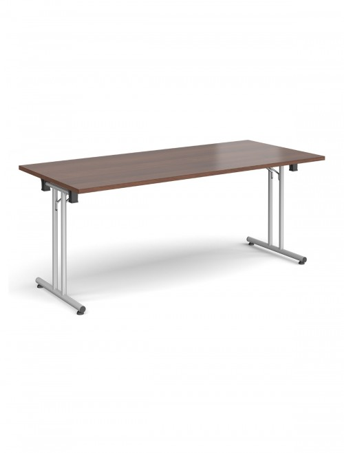 Walnut Table - Straight Folding Leg Meeting Table 1800mm SFL1800-S-W