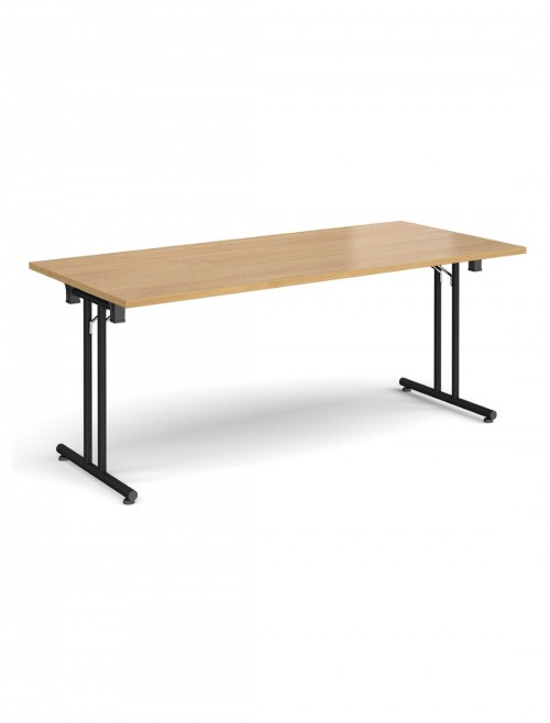 Oak Table - Straight Folding Leg Meeting Table 1800mm SFL1800-K-O