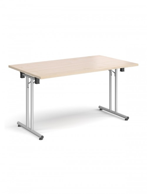 Maple Table - Straight Folding Leg Meeting Table 1600mm SFL1600-S-M