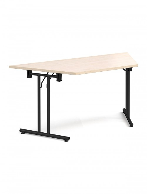 Maple Table Trapezoidal Straight Folding Leg Meeting Table 1600mm SFL1600T-K-M