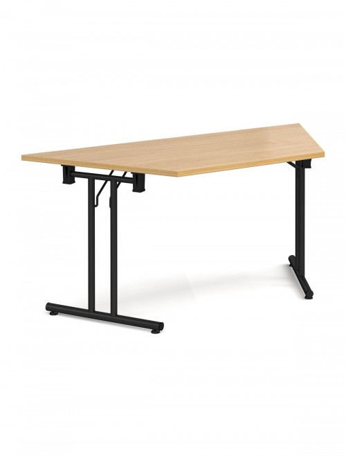Oak Table Trapezoidal Straight Folding Leg Meeting Table 1600mm SFL1600T-K-O