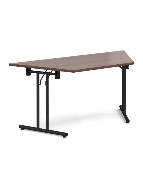 Walnut Table Trapezoidal Straight Folding Leg Meeting Table 1600mm SFL1600T-K-W