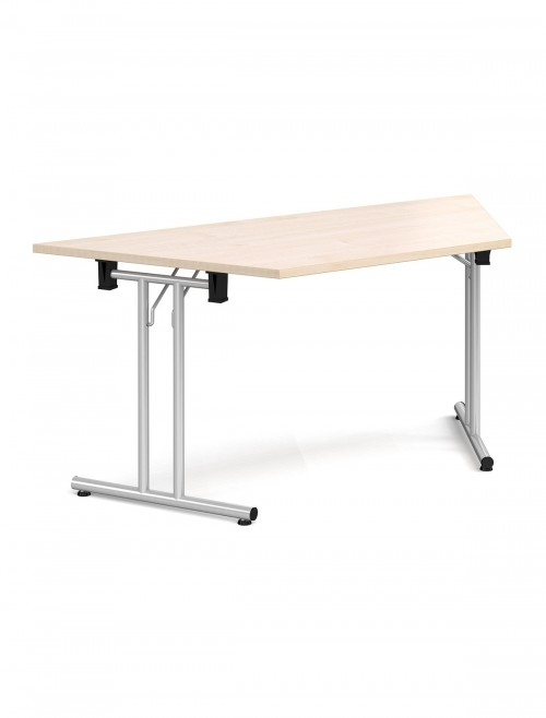Maple Table Trapezoidal Straight Folding Leg Meeting Table 1600mm SFL1600T-S-M
