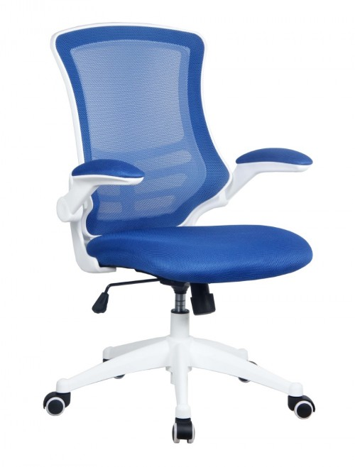 Mesh Office Chair Luna Blue BCM/L1302/WH-BL by Eliza Tinsley