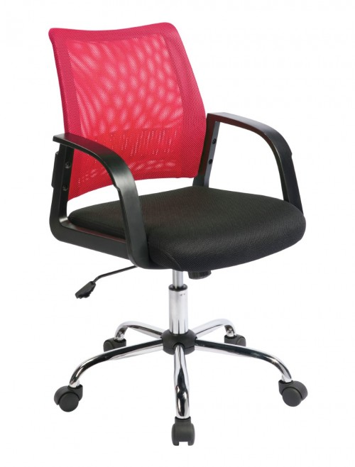 Mesh Operator Chair Calypso Raspberry BCM/F1204/RB by Eliza Tinsley