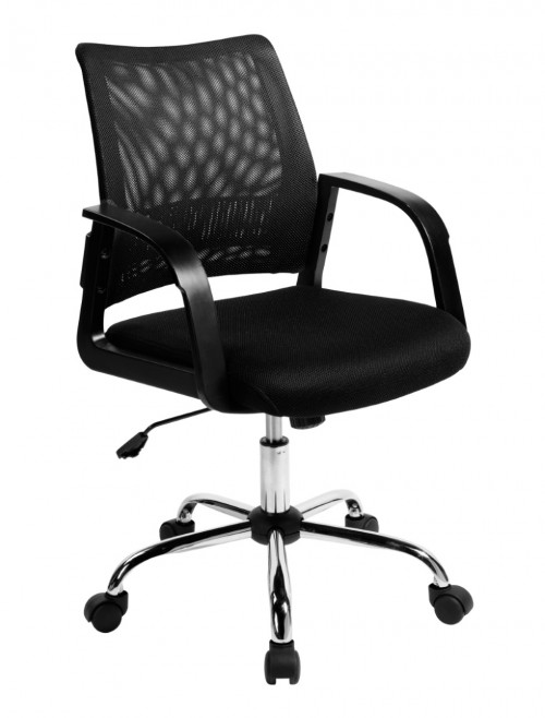 Mesh Operator Chair Calypso Black BCM/F1204/BK by Eliza Tinsley