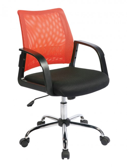 Mesh Operator Chair Calypso Orange BCM/F1204/OG by Eliza Tinsley