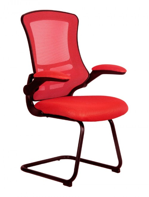 Mesh Visitors Chair Luna Red BCM/L1302V/RD by Eliza Tinsley