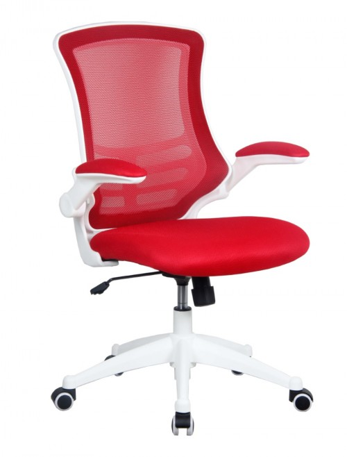 Mesh Office Chair Luna Red BCM/L1302/WH-RD by Eliza Tinsley