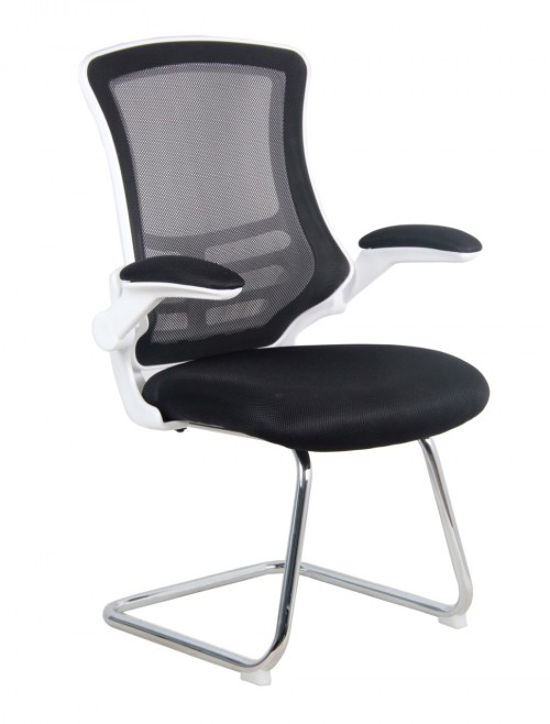 Mesh Visitors Chair Luna Black BCM/L1302V/WH-BK by Eliza Tinsley