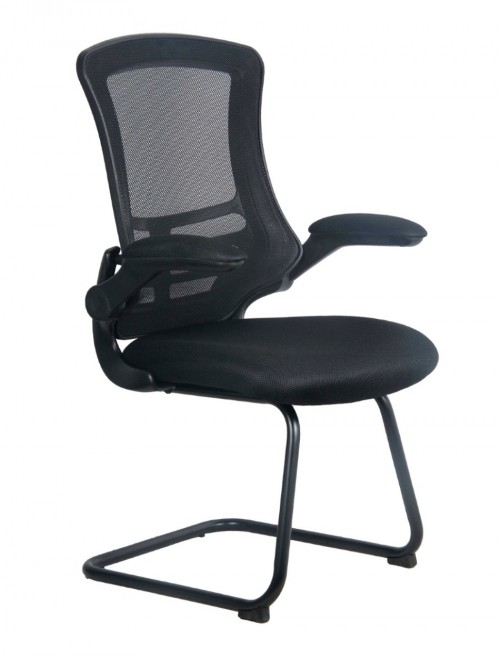 Mesh Visitors Chair Luna Black BCM/L1302V/BK by Eliza Tinsley