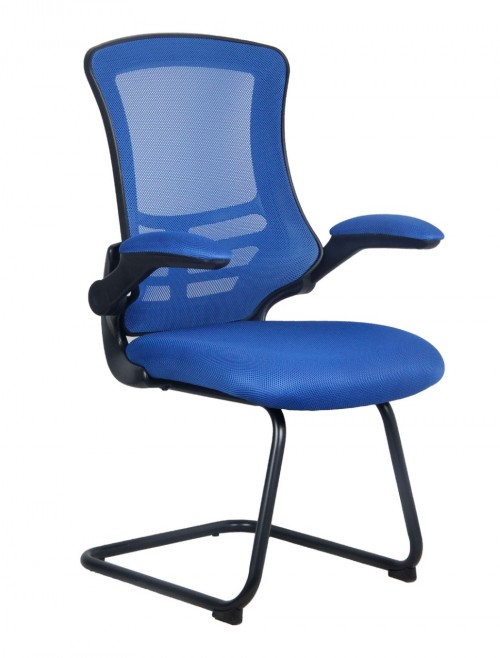 Mesh Visitors Chair Luna Blue BCM/L1302V/BL by Eliza Tinsley