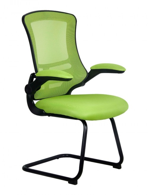 Mesh Visitors Chair Luna Green BCM/L1302V/GN by Eliza Tinsley