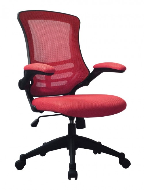 Mesh Office Chair Luna Red BCM/L1302/RD by Eliza Tinsley