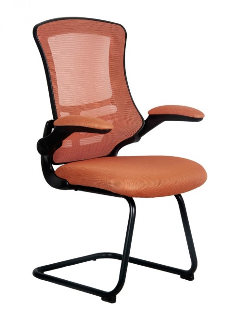 Mesh Visitors Chair Luna Orange BCM/L1302V/OR by Eliza Tinsley
