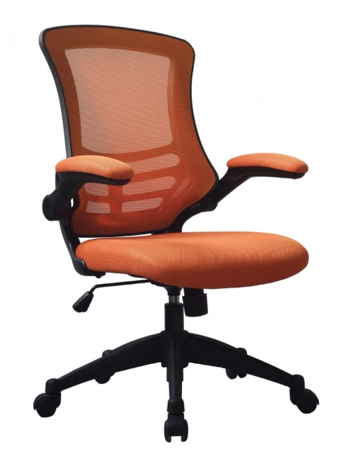 Mesh Office Chair Luna Orange BCM/L1302/OG by Eliza Tinsley