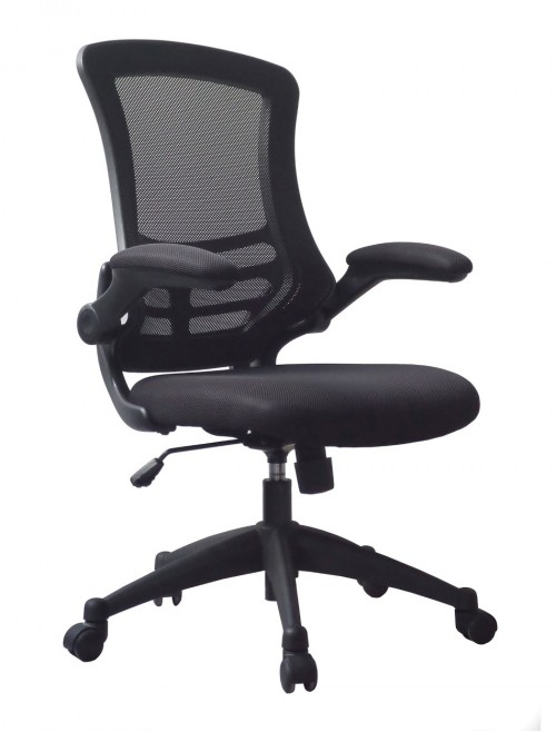 Mesh Office Chair Luna Black BCM/L1302/BK by Eliza Tinsley