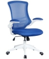 Luna Mesh Office Chair with Blue Mesh