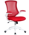 Luna Mesh Office Chair with Red Mesh