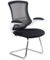 Luna Mesh Visitors Chair with Black Mesh