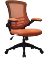 Luna Mesh Office Chair with Orange Mesh