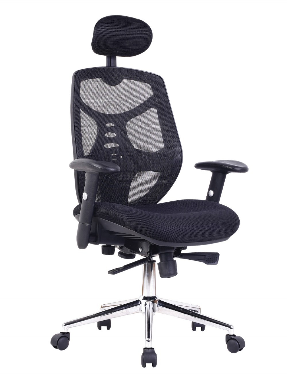 Mesh Office Chair with Headrest Polaris BCM/K113/BK by Eliza Tinsley