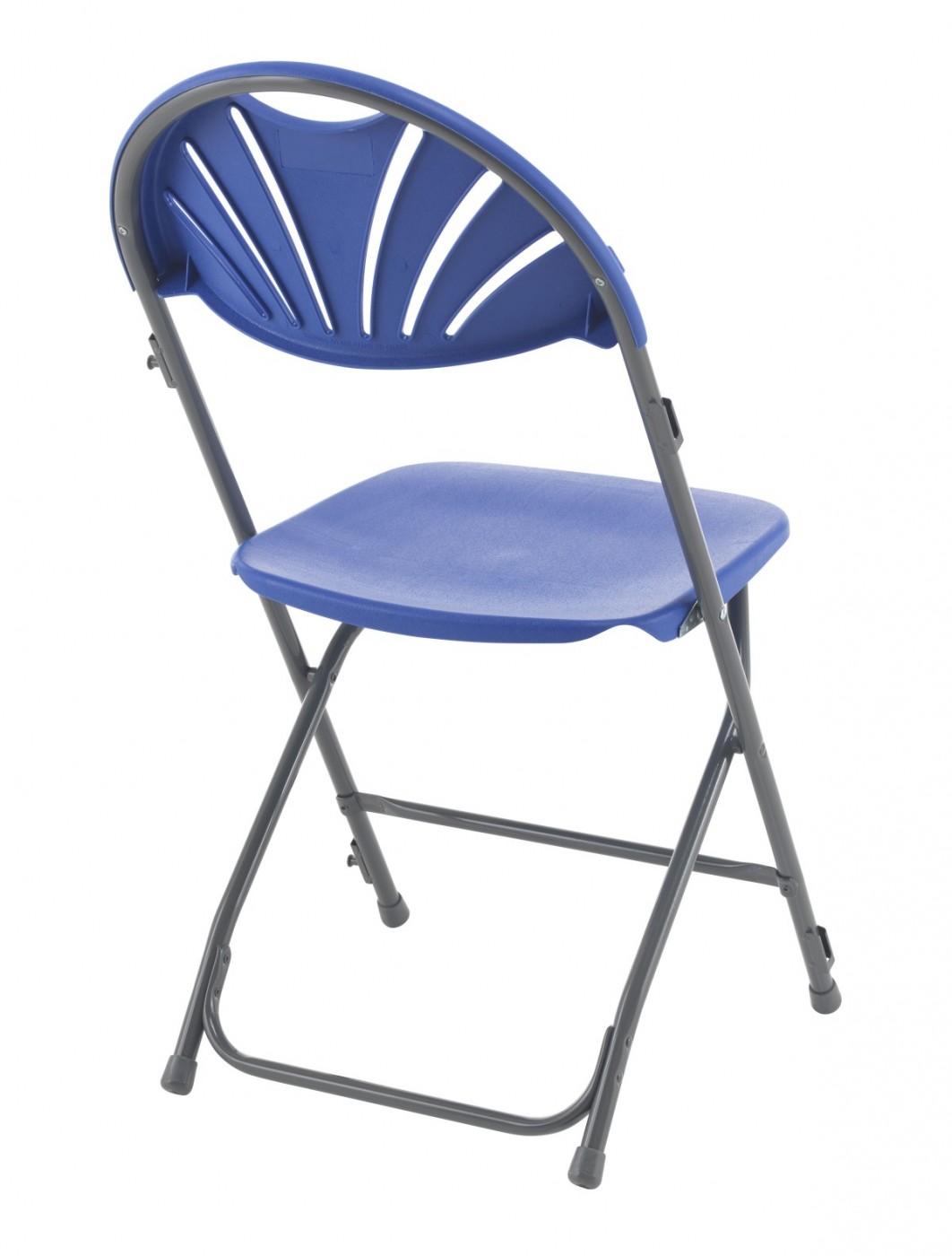 Exam Chairs Fan Back Blue Folding Chair Tcfafc2lk B
