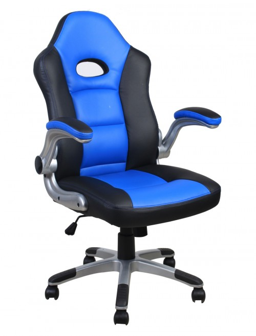 Gaming Chair Le Mans Racing Chair in Blue AOC3311BLU by Alphason