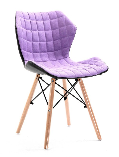 Purple Fabric Chair Amelia Lightweight Stylish Chair BCF/B570/PL