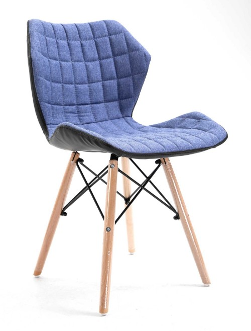 Denim Fabric Chair Amelia Lightweight Stylish Chair BCF/B570/DN