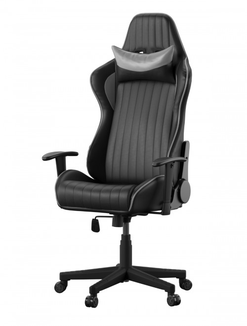 Gaming Chair Senna Racing Chair AOC5126GRY Black Grey by Alphason