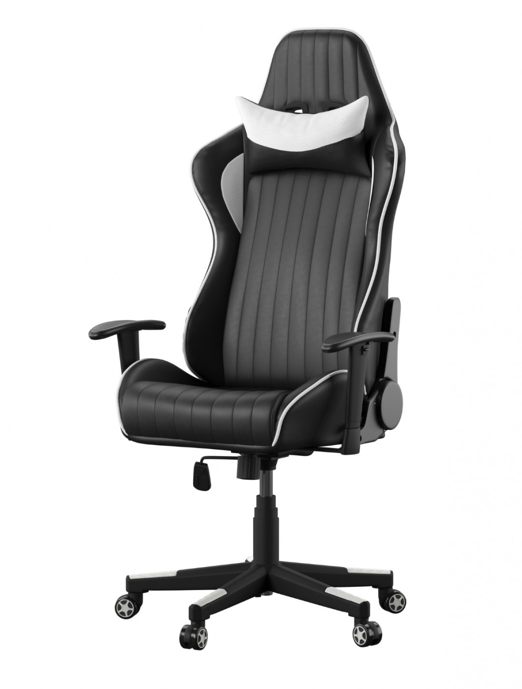Gaming Chair Senna Racing Chair AOC5126WHI Black White by Alphason