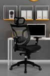 Newton Mesh High Back Executive Chair BCM/K103/BK - enlarged view