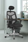 Office Chairs - Polaris Mesh Office Chair with Headrest BCM/K113/BK - enlarged view