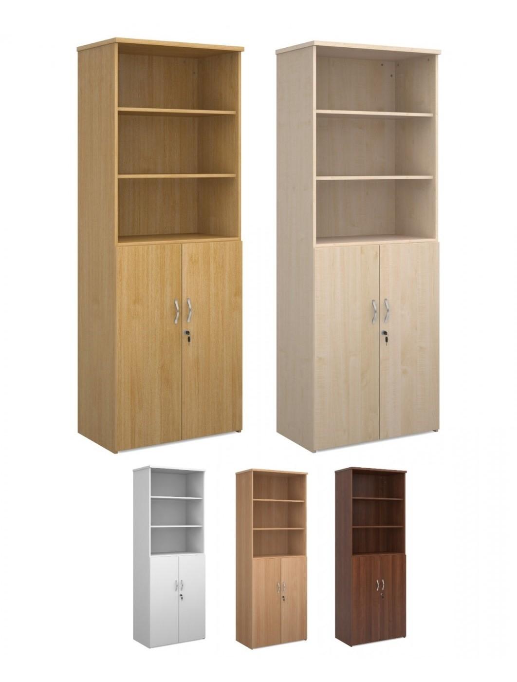 Maple Tall 1790mm Combination Unit Bookcase Cupboard Beech Oak,Walnut White