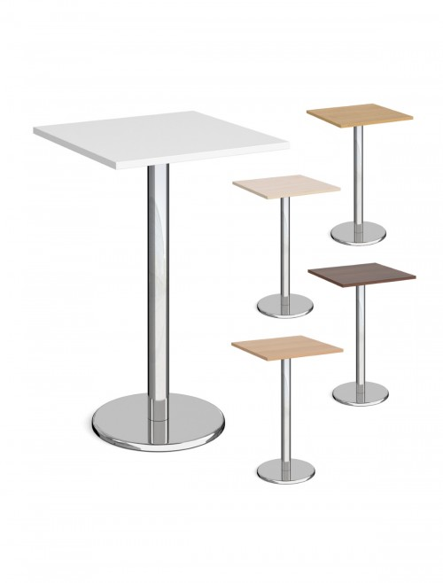 Square Poseur Table Pisa 700mm PPS700 by Dams