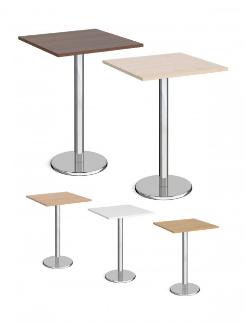 Square Poseur Table Pisa 800mm PPS800 by Dams