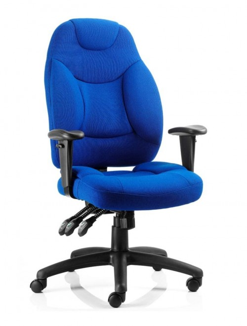 Office Chairs - Galaxy Blue Fabric Operators Chair