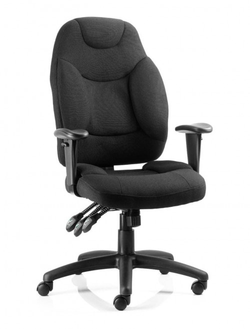 Office Chairs - Galaxy Black Fabric Operators Chair
