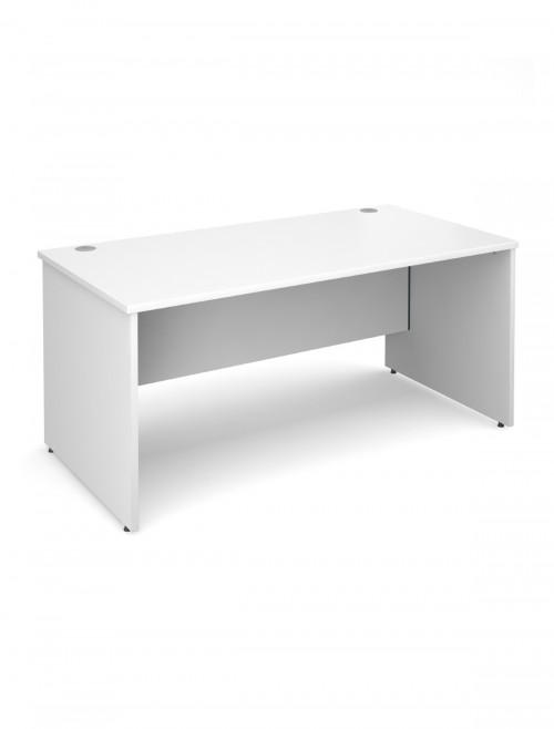 White Office Desk 1600x800mm Maestro 25 Panel Desk MW16WH by Dams