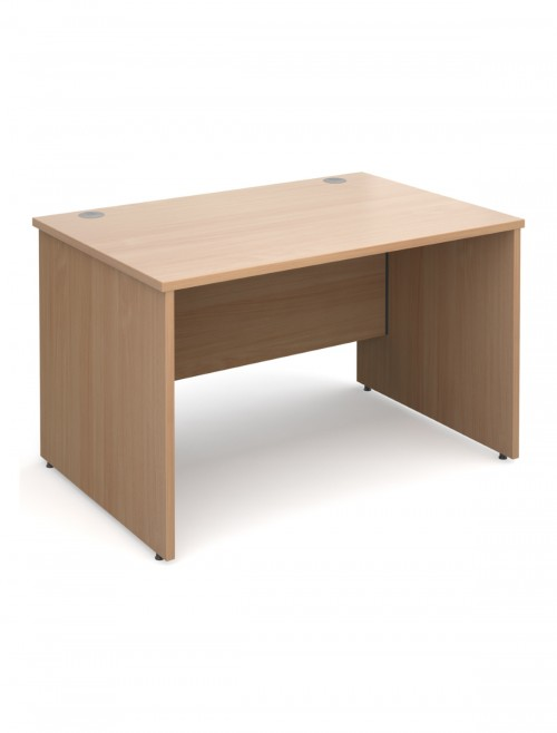 Beech Office Desk 1200x800mm Maestro 25 Panel Desk MW12B by Dams
