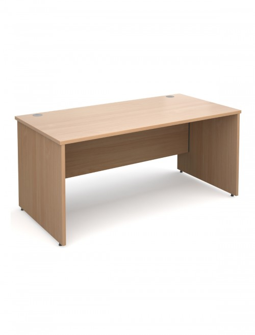 Beech Office Desk 1600x800mm Maestro 25 Panel Desk MW16B by Dams