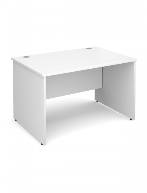 White Office Desk 1200x800mm Maestro 25 Panel Desk MW12WH by Dams