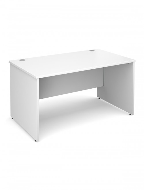 White Office Desk 1400x800mm Maestro 25 Panel Desk MW14WH by Dams