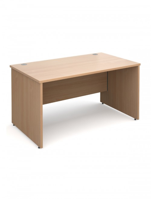 Beech Office Desk 1400x800mm Maestro 25 Panel Desk MW14B by Dams