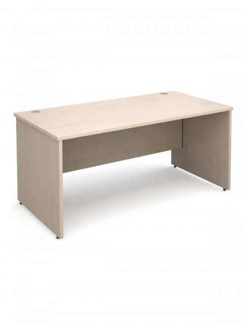 Maple Office Desk 1600x800mm Maestro 25 Panel Desk MW16M by Dams