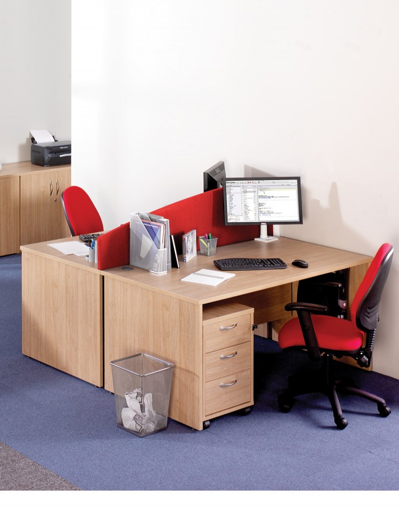 Maple Office Desk 1400x800mm Maestro 25 Panel Desk MW14M by Dams