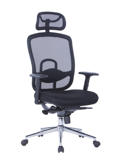 Mesh Office Chair Miami Black AOC2800BLK by Alphason