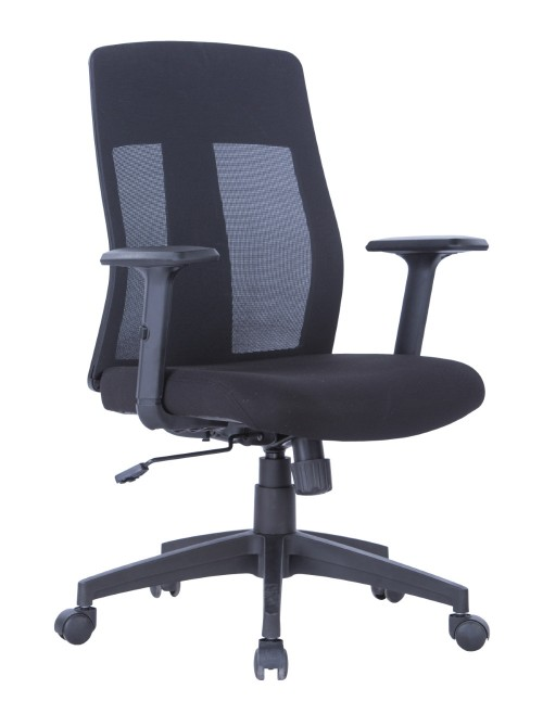 Mesh Office Chair Black Laguna AOC1705BLK by Alphason