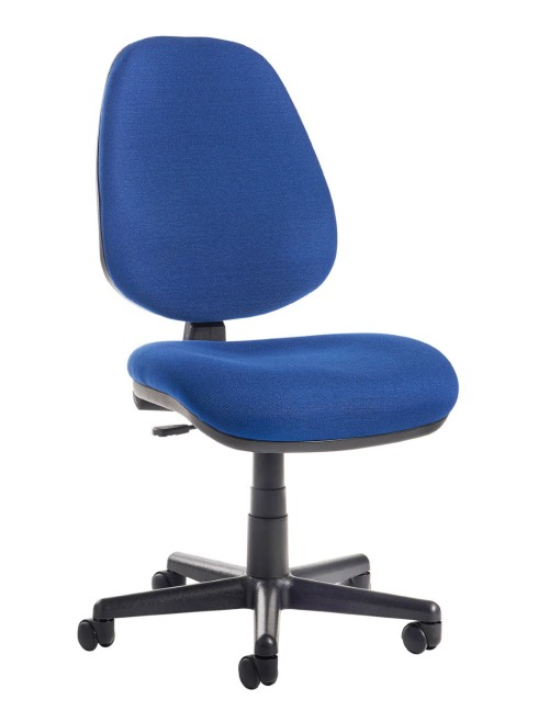 Office Chair Blue Bilbao Operator Chairs BILB1-B by Dams